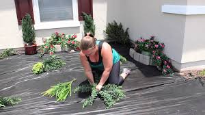 planting an artificial outdoor fern how to plant artificial plants and trees you