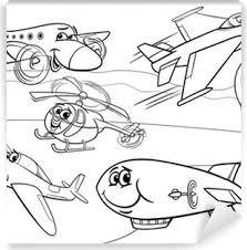 Poster Zeppelin Luchtschip Cartoon Kleurplaat Pixers We Leven