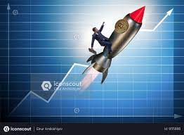 Bitcoin hints breakout to $11,000 with the formation of a bullish flag pattern. Premium Businessman Flying On Rocket In Bitcoin Price Rising Concept Photo Download In Png Jpg Format Bitcoin Price Business Man Business Photos