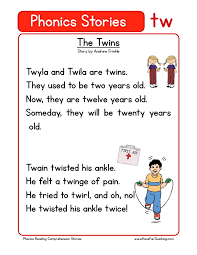 Start from the beginning and read highlighting the 'og' words. Phonics Reading Comprehension Worksheets
