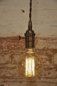 plug in pendant lighting. antique brass turn knob pendant light fixture hanging plug in canopy vintage on etsy 3499 lighting r