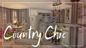 Sims Kitchen The Sims 4 Room Build Country Chic Kitchen Dinning Living