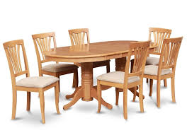 east west 7pc dining set vancouver oval table 6 avon padded chairs light oak ebay