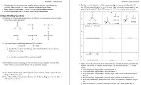 Lewis Structure Worksheets With Answers Lewis Structure Worksheets With Answers Atlas