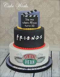 Friends Themed 30th Birthday Cake Cakecentralcom