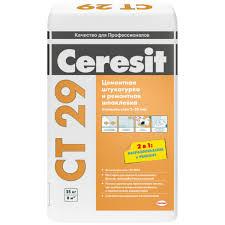 <b>Штукатурка цементная Ceresit</b> CT29 и ремонтная шпаклевка 25 ...