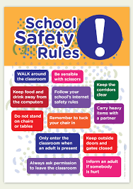 School Safety Rules Chart Pin By Tiffiny Anderson On Education Board School Safety