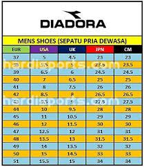 Diadora Women S Shoe Size Chart Best Picture Of Chart