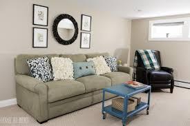 Makeover Living Room A Big Basement Living Room Makeover