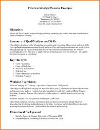Financial Analyst Resume Objective Resume Financial Analyst Savebtsaco 17