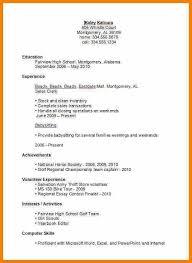 First Job Sample Resume First Job Resume Sample Resume For Teenager