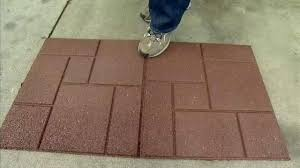 rubber deck tiles rubber outdoor tiles home depot