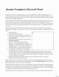 Word 2007 Resume Templates Resume Template Word 24 Fresh Mind Map Microsoft Student Office 21