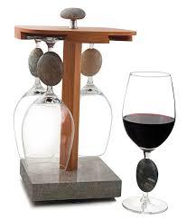 kitchen glassware pirouette wine glass display holder with 4 seastone stemmed wine glasses