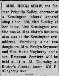 Priscilla Kelley Shaw dies - Newspapers.com