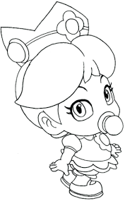 Small Picture Super Mario Princess Peach Coloring Pages And Daisy Colouring