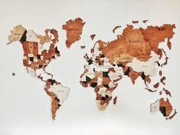 world map wooden map wood wall art