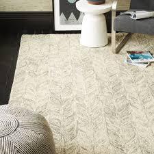 vines wool rug neutral