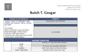Cewp Exercise Planning Cougar Employee Wellness Program
