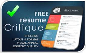 Professional Resume Critique Free Resume Critique And Resume Review Expert Resumes