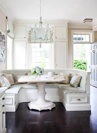 The built in dining area seems so dreamy to me for a family home. Who  wouldn't want to hang out around any of those tables and talk about your  day?