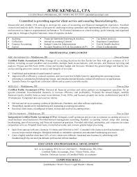 Cpa Resume Example – Resume Web