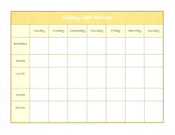 Maisdeumbilhao Passamfome Weekly Meal Planner Excel