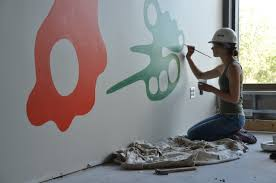 Large Scale Art Wall Drawing Summer 2015