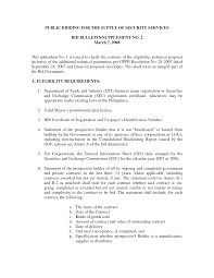 Sample Security Proposal Letter Security Guards Companies