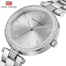 <b>MINI FOCUS</b> Women Stainless Steel Wristwatch <b>Dress Casual</b> ...