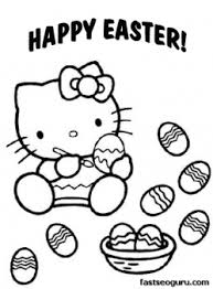 Printable Easter Hello Kitty Coloring Pages Printable Coloring