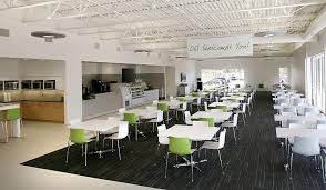 office cafeteria. Cafeteria - Open Systems International United States Office Y