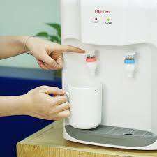 Cây nước nóng lạnh để bàn Nhập Khẩu Fujihome WD5510E, bình lọc tủ máy lọc nước  nóng lạnh mini uống công nghệ Nhật Bản - Máy nước nóng