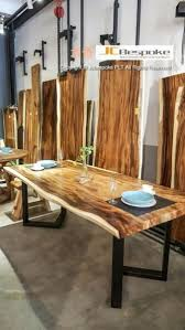 solid wood dining table. Acacia Solid Wood Dining Table With Steel Leg D