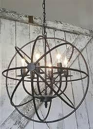 metal lighting fixtures. industrial round chandelier light fixture globe metal rustic armillary sphere lighting fixtures n