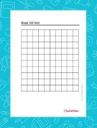 Blank 100 Grid Teachervision