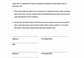 Document Template : Free Simple Non Disclosure Agreement Company ...
