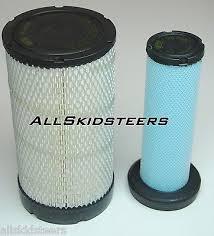t190 zeppy io bobcat engine air filter kit s185 s205 t180 t190 skid steer inner outer new