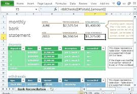 Check Reconciliation Template Monthly Reconciliation Template Free Bank Reconciliation Template