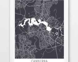 canberra city urban map poster canberra street map print grey canberra australia modern wall art travel poster home decor printable art on canberra raiders wall art with printable canberra etsy