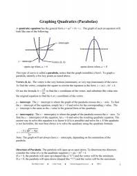 graphing quadratics parabolas