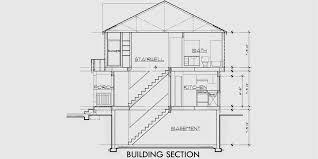 duplex house plans with basement two unit open floor garage