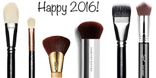 six makeup brushes for 2016