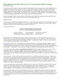 Cover Letter Resume Builder For Military To Civilian Resume