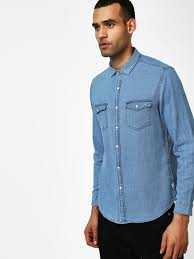 Buy Indigo Nation Blue Long Sleeve Woven Casual Shirt For