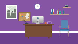 Cartoon Office Cartoon Modern Colorful Office Animation With Space For Your Text Or