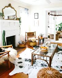 cowhide rug modern decor beautiful image of dining room decoration with rug under dining table good