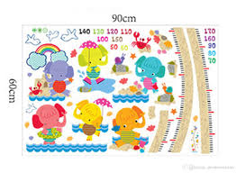 Cute Growth Chart Sayings Cute Elephant Cartoon Height Measure Wall Stickers For Kids Rooms Growth Chart Wall Decals Art Poster Mural Children Gifts Decoration Wall Stickers