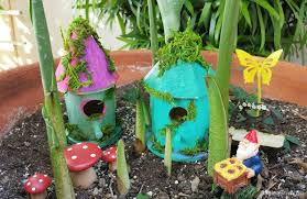 easy craft ideas for kids fairy houses