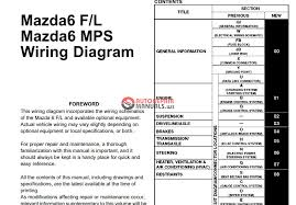 mazda 6 wiring diagram mazda wiring diagrams mazda 6 gg 2002 2007 wiring diagrams auto repair manual